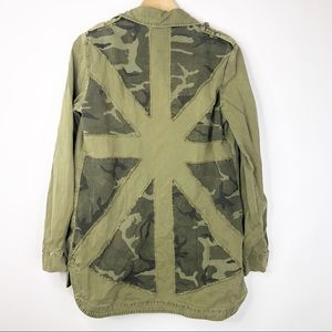 Forever 21 Army Olive Green Camo Star Jacket